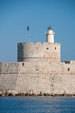 Saint Nicholas Fort, Rhodes Royalty Free Stock Images