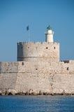 Saint Nicholas Fort, Rhodes Royalty Free Stock Images