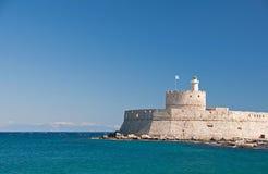 Saint Nicholas Fort, Rhodes Stock Image
