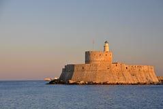 Saint Nicholas Fort, Rhodes Stock Images