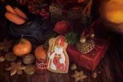 Saint Nicholas gifts stock images