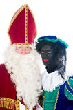 Saint Nicholas and his helper Royalty Free Stock Image