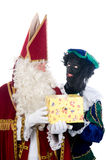 Saint Nicholas and his helper Royalty Free Stock Images
