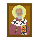 Saint Nicholas. Icon on brown background Royalty Free Stock Photography