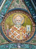 Saint Nicholas icon - patron of seafarers. Saint Nicholas icon in the church - patron of seafarers Royalty Free Stock Photos