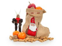 Saint Nicholas and Krampus concept royalty free stock photo