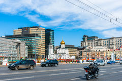 Saint Nicholas Old Believers Church. MOSCOW, RUSSIA - APRIL 29, 2016: Saint Nicholas Old Believers Church at Tverskaya Zastava outpost. Consecrated in 1921 stock images