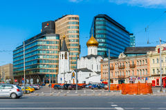 Saint Nicholas Old Believers Church. MOSCOW, RUSSIA - APRIL 29, 2016: Saint Nicholas Old Believers Church at Tverskaya Zastava outpost. Consecrated in 1921 royalty free stock image