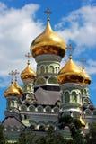 Saint Nicholas Orthodox Cathedral do monastério e do convento da intercessão de Pokrovsky em Kiev, Ucrânia imagem de stock royalty free