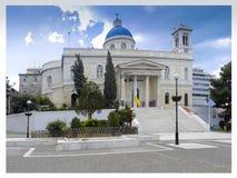 Saint Nicholas of Piraeus ... The largest church in the city. Greece. Saint Nicholas of Piraeus ... The largest church in the city. Greece royalty free stock photos