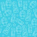 Saint Nicholas seamless pattern stock image
