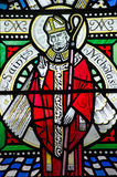 Saint Nicholas Stained Glass Window Stock Photos
