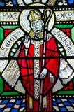 Saint Nicholas Stained Glass Window Stock Photos