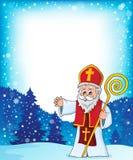 Saint Nicholas topic frame 1 royalty free illustration