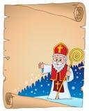 Saint Nicholas topic parchment 2 royalty free illustration