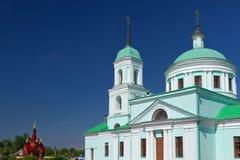 Saint Nicholas Wonderworker's temple (village Russian Nikolskoye), Tatarstan Stock Photo