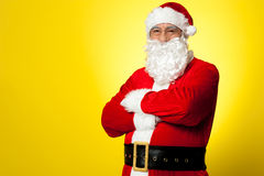 Saint Nick posing confidently Royalty Free Stock Photos