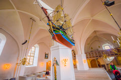 Saint Nicolai medieval church in Simrishamn Royalty Free Stock Photography