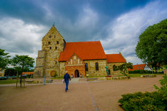 Saint Nicolai medieval church in Simrishamn Royalty Free Stock Image