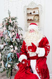 Saint Nicolas with a bag of gifts Stock Photography