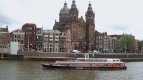 Saint Nicolas Church au centre de la ville d'Amsterdam - AMSTERDAM - LES PAYS-BAS - 19 juillet 2017 clips vidéos