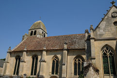 Saint Nicolas church of Guiry en Vexin Stock Image
