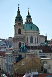 Saint Nicolas church in Prague Stock Photos