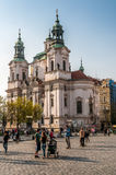 Saint Nicolas church in Prague Stock Photo