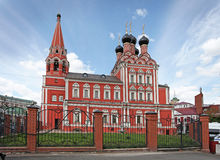 Saint Nicolas church in Taganka, Moscow Stock Image