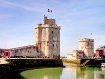 Saint Nicolas en Kettingstoren in La Rochelle, Frankrijk Royalty-vrije Stock Foto's