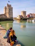 Saint Nicolas en Kettingstoren in La Rochelle, Frankrijk Royalty-vrije Stock Afbeelding