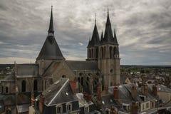 Saint Nicolas-Kirche in Blois, Frankreich Stockfotografie