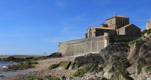 Saint-Nicolas priory in la Chaume stock video