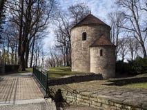 Cieszyn the rotunda of saint nicolas. Saint nicolas and saint wenceslas church in cieszyn, a romanesque rotunda built in the 12th century to serve the role of a stock photography