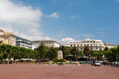 Saint Nicolas square in Bastia Stock Photos