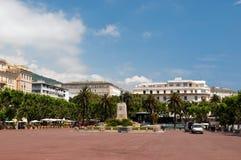 Saint Nicolas square in Bastia Stock Photos