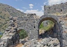 Saint-Nicolas sur l'île de Gemiler, Fethiye, Turquie Photos stock