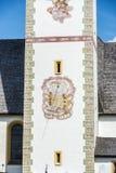 Saint Nicolaus in Mutters near Innsbruck, Austria. Stock Image