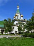 Saint Nikolay da igreja do russo em Sofia City Fotos de Stock