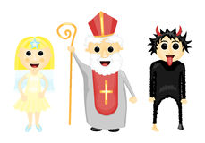 Saint Nocholas, angel and devil Royalty Free Stock Image