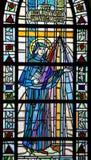 Saint Faustina Kowalska in Stained Glass. Saint nun Faustina Kowalska in stained glass Royalty Free Stock Photos