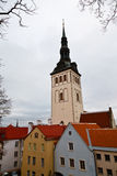 Saint Olaf Church in Old Tallinn Royalty Free Stock Photo