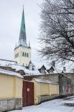 Saint Olaf church in Old Town of Tallinn Royalty Free Stock Photos