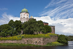 Saint Olaf tower in Vyborg Royalty Free Stock Image