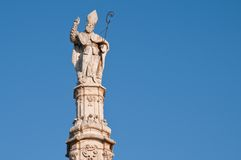 Saint Oronzos statue, Puglia, Ostuni Royalty Free Stock Photos