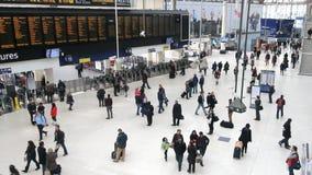 Saint Pancras Railway Station in London stock video footage