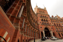 Saint Pancrass station and hotel royalty free stock images