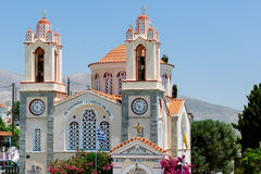 Saint Panteleimon church, Sianna, Rhodes, Greece Royalty Free Stock Images