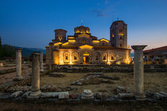 Saint Panteleimon Lake Ohrid do monastério fotografia de stock royalty free