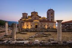 Saint Panteleimon Lake Ohrid do monastério fotografia de stock